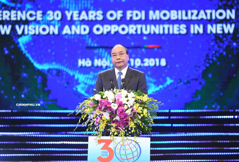 Hội nghị tổng kết 30 năm thu hút FDI: 24 văn kiện hợp tác đầu tư được ký kết